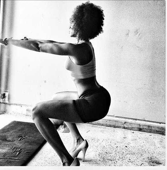 Squats in heels