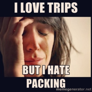 Love trips hate packing