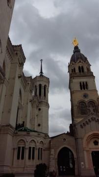 Exterior of Basilica de Notre Dame Lyon