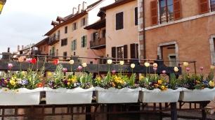 Flower bridge in Annecy