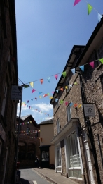 Hay on Wye streets and bunting