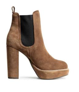 H&M tan suede platform boots