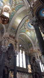 Inside Basilica de Notre Dame Lyon