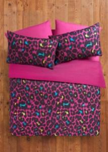 Matalan bright leopard print duvet