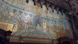 Mosaic fresco at Basilica de Notre Dame Lyon