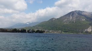 Mountain view from Lake Annecy