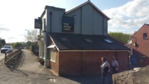 Outside River Cafe Glasbury