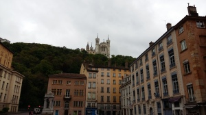 Vieux Lyon with view of Basilica