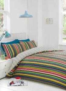 Yorkshire Linen bright stripe duvet cover