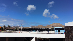 Arrecife airport outdoor terrace