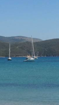 Boats in Finikounda Bay