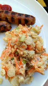 Crushed potato salad