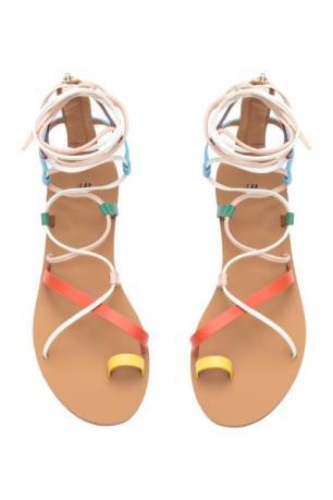 H&M multi coloured roman sandals 1