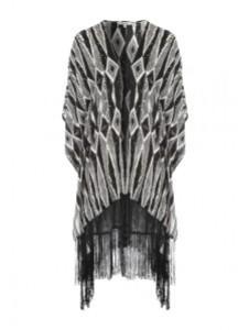 Peacocks aztec print kimono