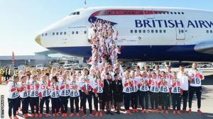 Team GB arrive back in UK