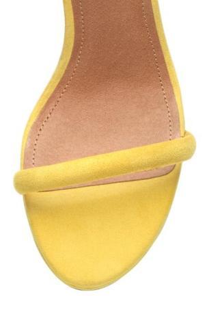 Yellow H&M suede heels 2
