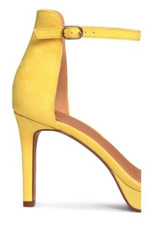 Yellow H&M suede heels 3