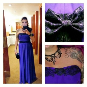 purple-and-black-lace-bridesmaid-dress