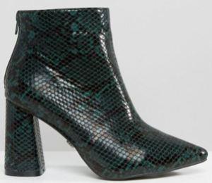 daisy-street-green-snakeskin-boots