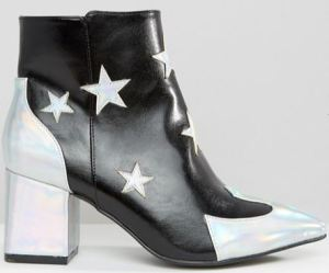 daisy-street-star-print-ankle-boots