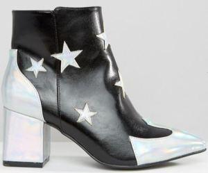 daisy-street-star-print-ankle-boots