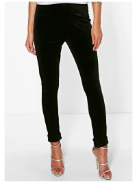 boohoo-black-velvet-skinny-trousers-close-up