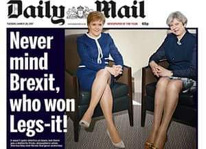 Daily Mail Teresa May and Nicola Sturgeon