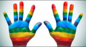 rainbow-painted-childrens-hands