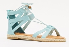 Everything 5 Pounds pale blue lace up sandals