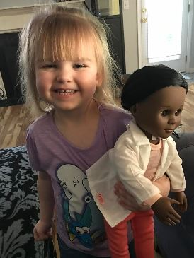 Sophia and her doctor doll