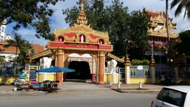 Dharmikarama Burmese temple entrance