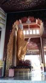 Dharmikarama Burmese temple gold buddha