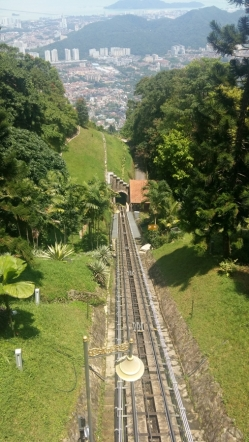 Funicular railway up Penang Hill 2