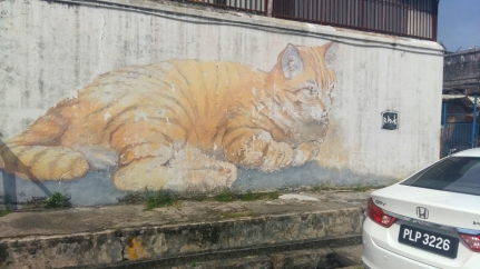 Ginger Tom street art Armenian Street