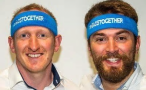 Jonny Benjamin and Neil Laybourn marathon runners