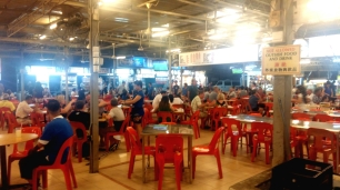 Long Beach hawker food centre Batu Ferringhi