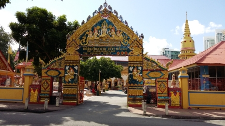 Wat Chaiyamangkalaram Thai temple entrance 2