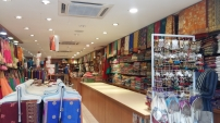Inside sari shop in Brickfields