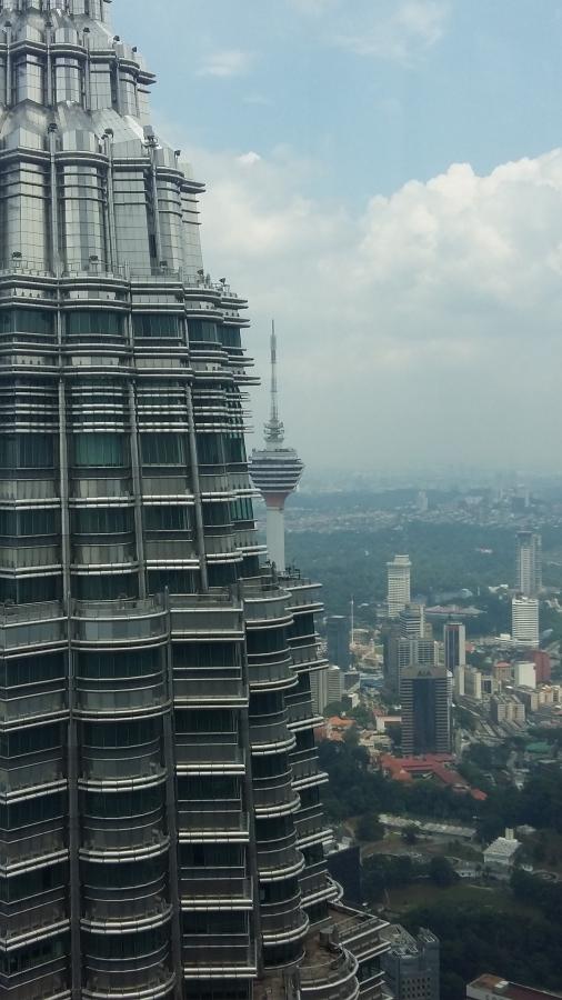 KL Tower behind Petronas Tower