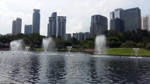 KLCC park fountains daytime