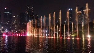 KLCC park fountains light show 3