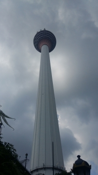 Looking up at KL Tower 2