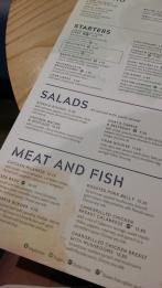 Prezzo Moseley menu 2