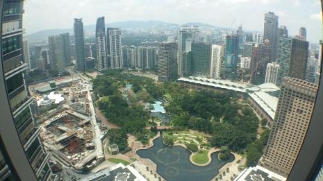 View from Sky Bridge Petronas Towers