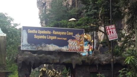 Batu Caves entrance to Ramayana Cave