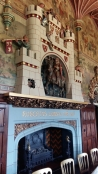 Cardiff Castle apartments fireplace