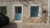 Areopoli blue door and window