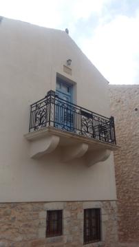 Areopoli pastel balcony