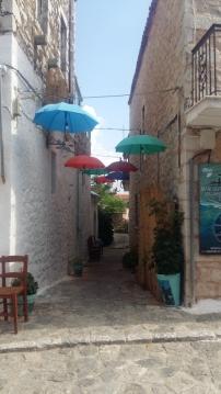 Arepoli umbrella alleyway