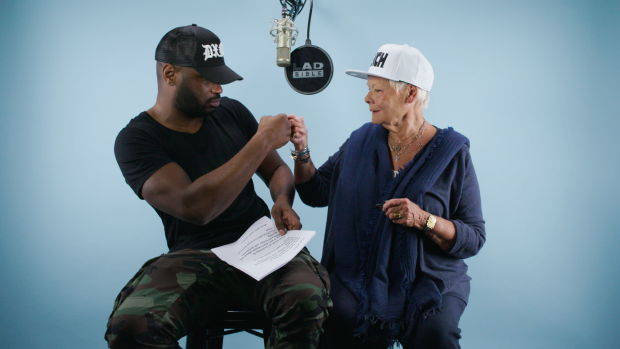 Dame Judi Dench and Lethal Bizzle